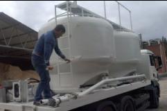 Dostava peletov v razsutem stanju s cisterno